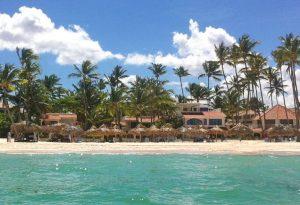 Tiny Travel Chick Punta Cana View of Bavaro Beach from water