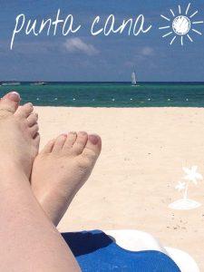 Tiny Travel Chick Punta Cana Feet on the Beach 2