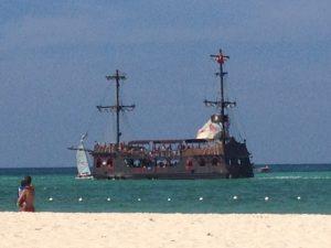 Tiny Travel Chick Punta Cana Party Pirate ship