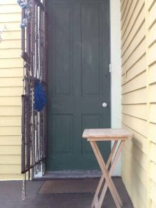 tiny travel chick new orleans entry door