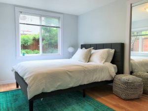tiny travel chick's carnaval airbnb san francisco bed
