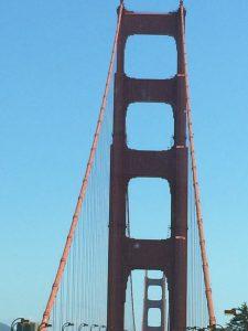 tiny travel chick golden gate bridge