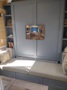 tiny travel chick oasis tiny house bed closed