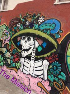 tiny travel chick's carnaval airbnb 2017 la catrina mural