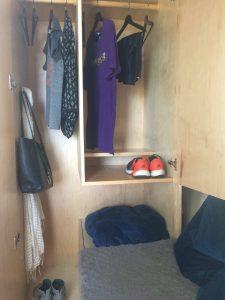 tiny travel chick best travel experience tiny house closet