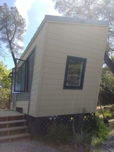 tiny travel chick best travel experience tiny house front view