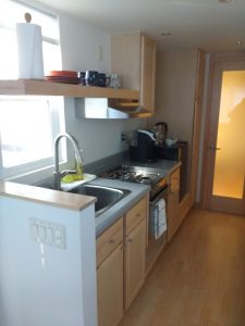 tiny travel chick travel experience tiny house kitchen