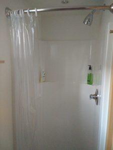 tiny travel chick travel experience tiny house shower