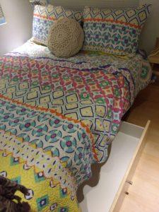 tiny travel chick travel experience tiny house bed storage