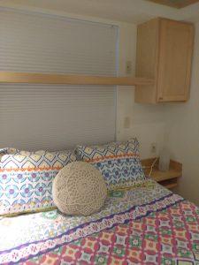 tiny travel chick travel experience tiny house bedroom shelf