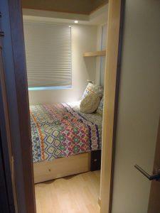 tiny travel chick travel experience tiny house bedroom