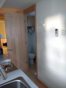 tiny travel chick travel experience tiny house bathroom