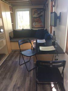 tiny travel chick best travel experience tiny house folding table