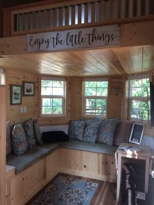 tiny travel chick amazing travel tiny house living room