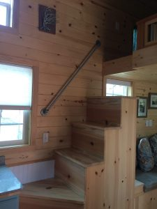 tiny travel chick amazing travel tiny house loft stairs