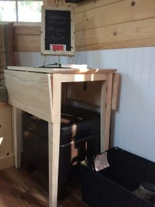 tiny travel chick amazing travel tiny house folding table closed