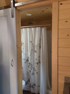 tiny travel chick amazing travel tiny house bathroom sliding door