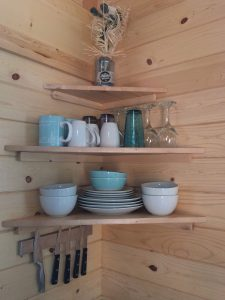 tiny travel chick amazing travel tiny house dish shelf