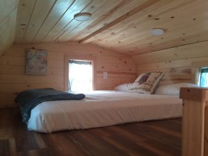 tiny travel chick amazing travel tiny house queen bed loft