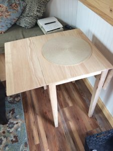 tiny travel chick amazing travel tiny house dining table