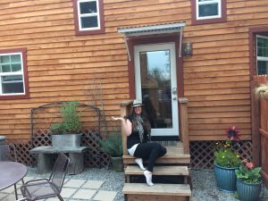 tiny travel chick amazing travel tiny house welcome front porch