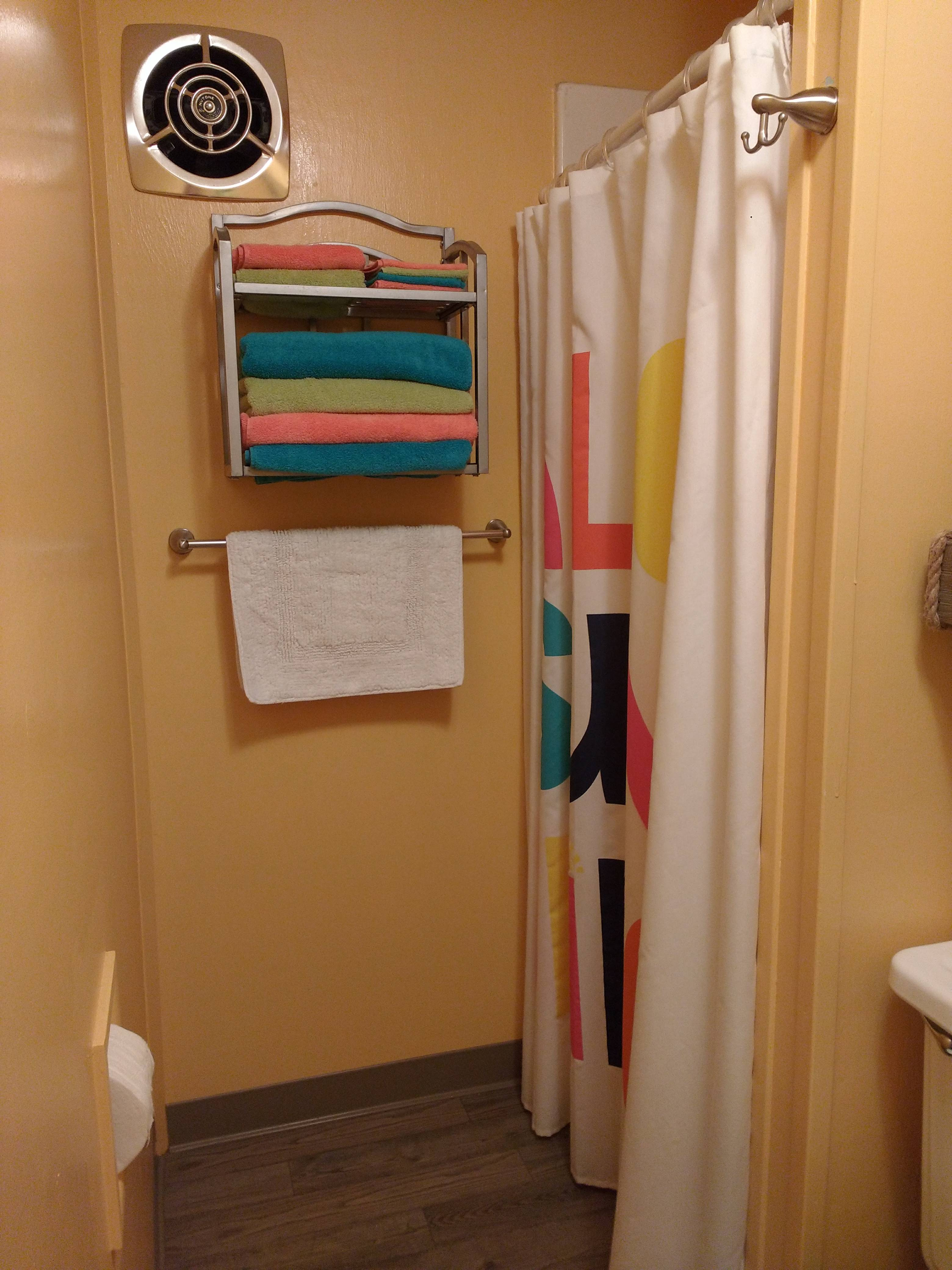 tiny travel chick incredible travel colorful corner airbnb shower