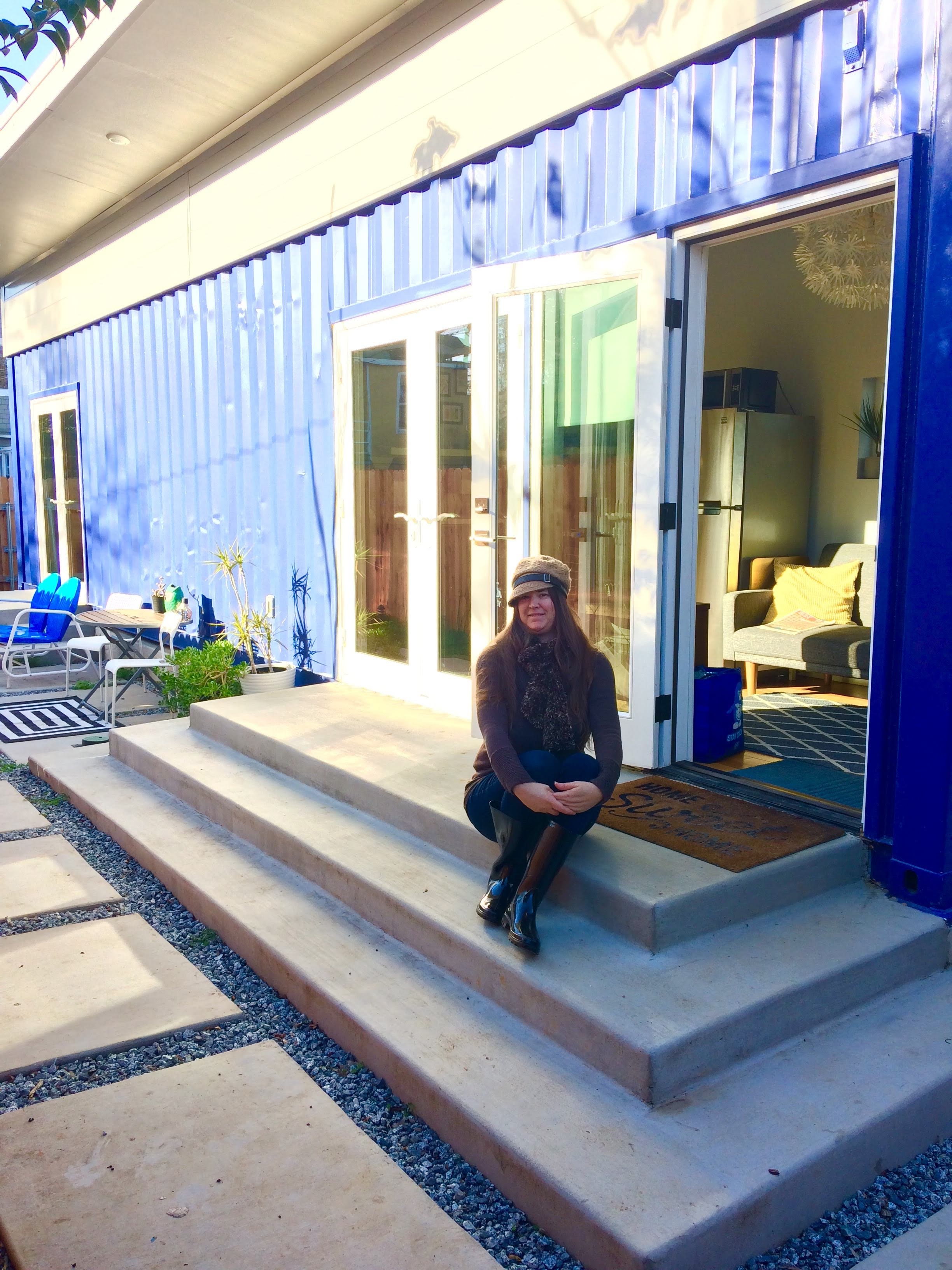 tiny travel chick indoor things to do in sacramento container home airbnb