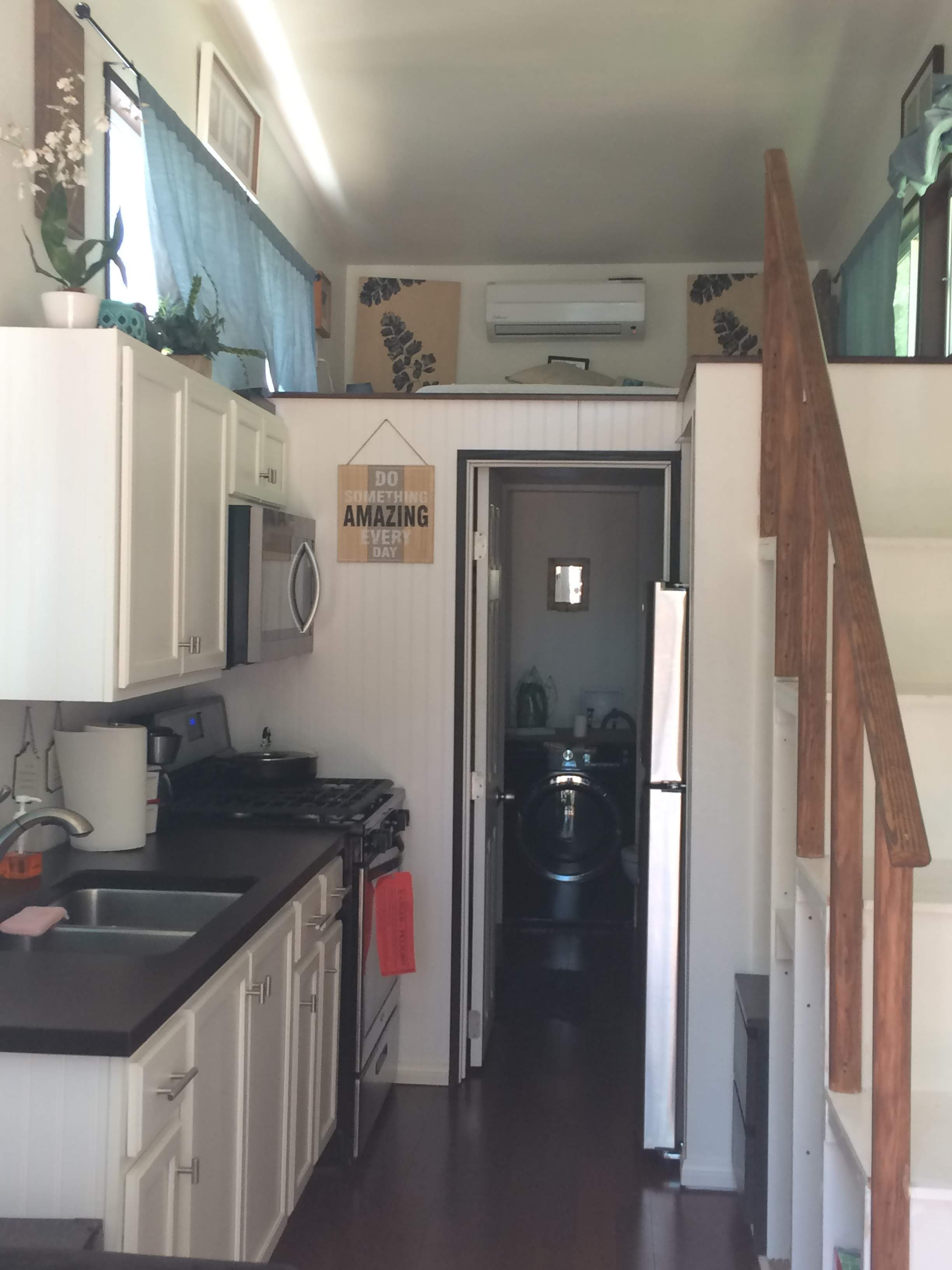 tiny travel chick tiny house block woodlands kitchen
