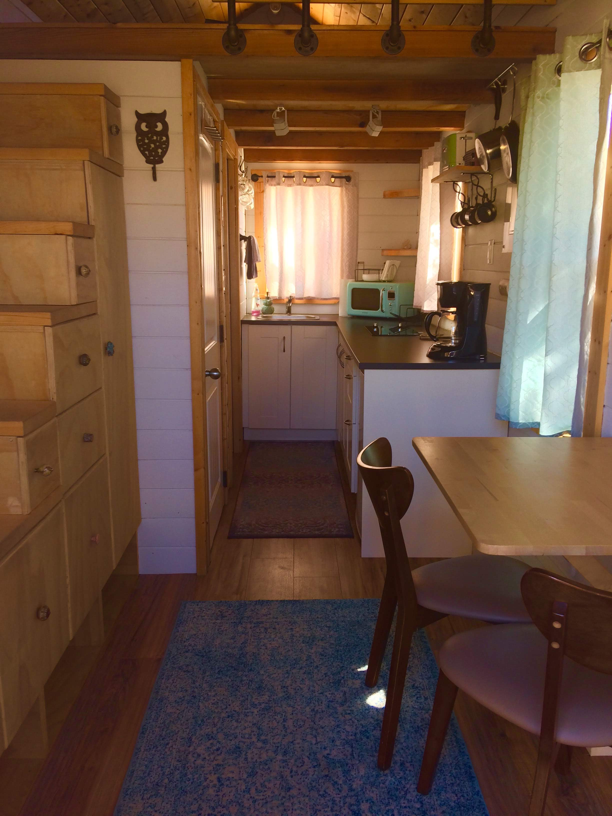 tiny travel chick unique things to do in southern california paper moon outpost tiny house kitchen