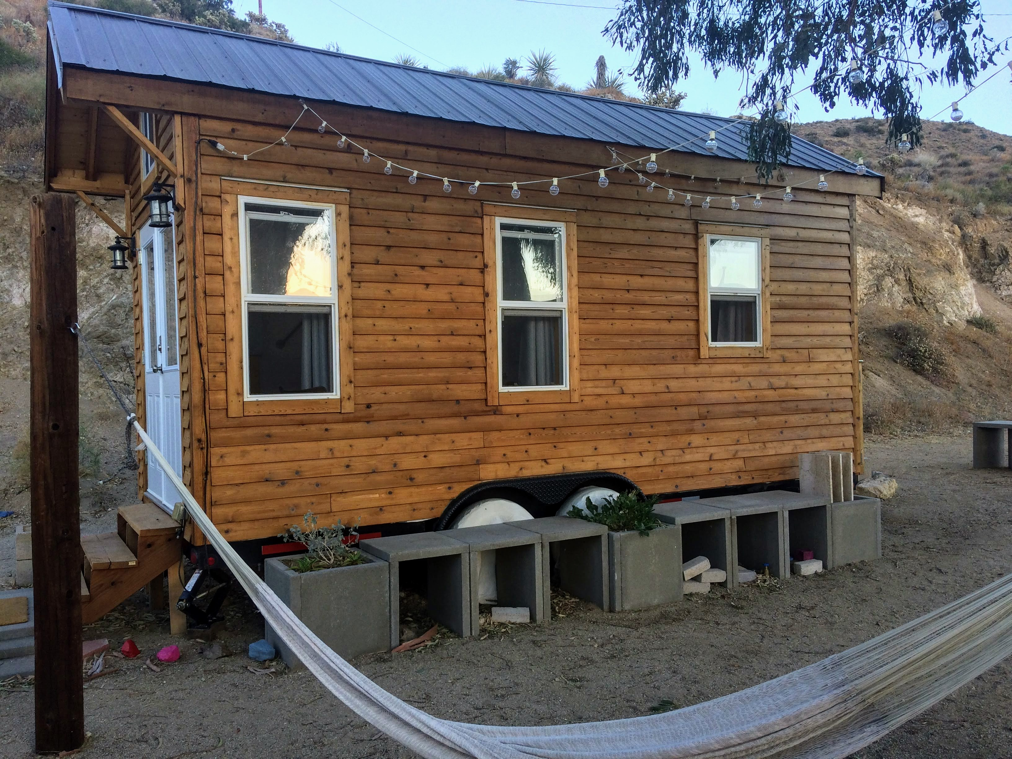 tiny travel chick unique things to do in southern california paper moon outpost tiny house hammock
