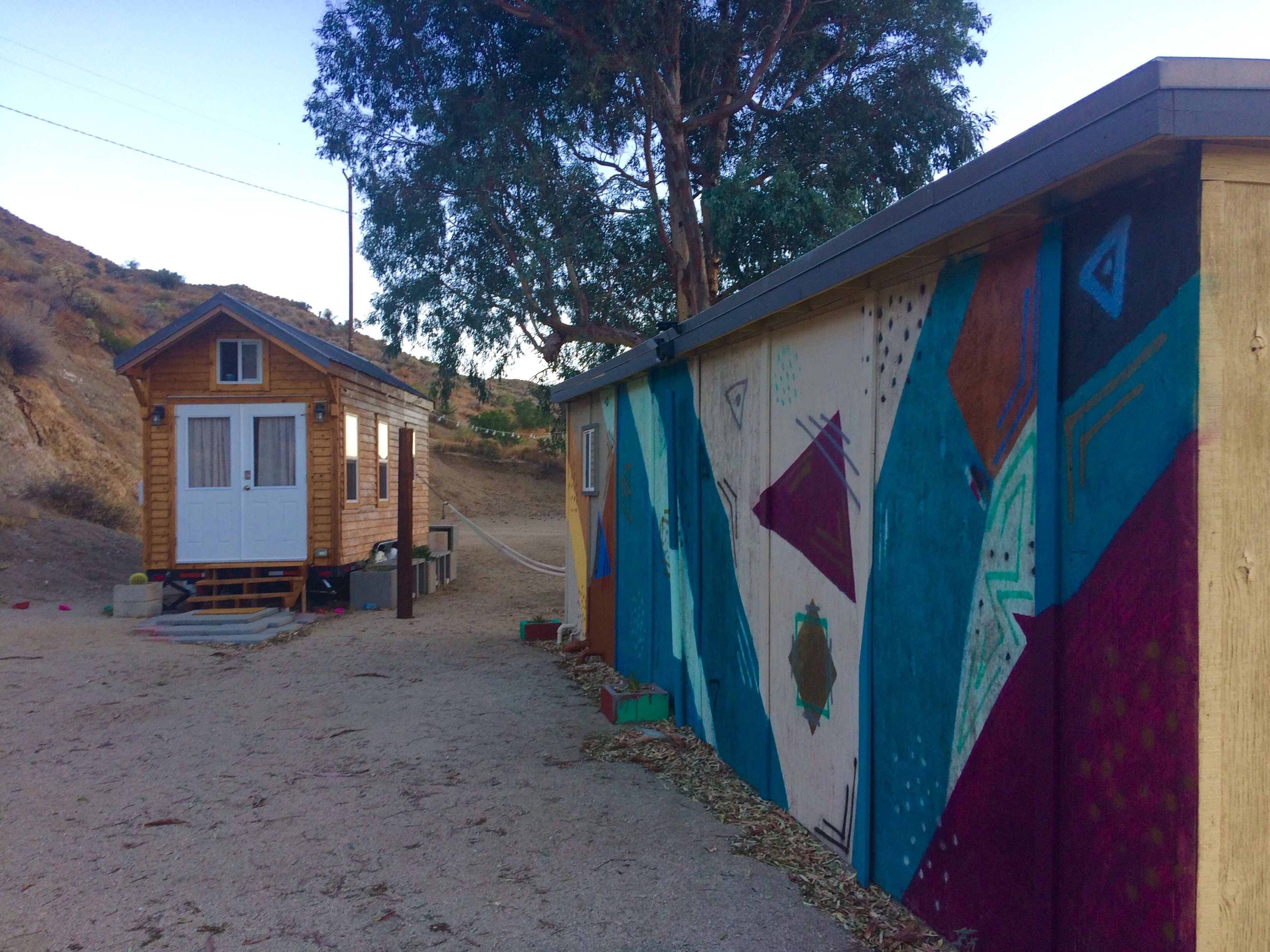 tiny travel chick unique things to do in southern california paper moon outpost tiny house artwork