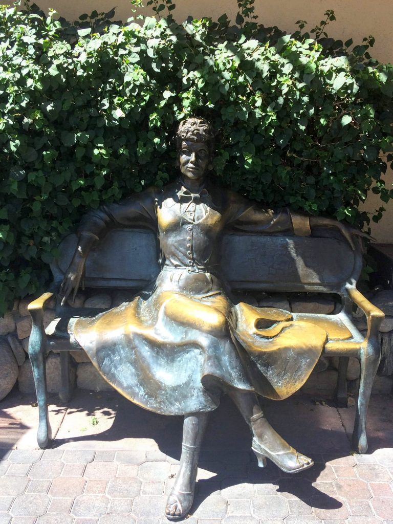 tiny travel chick unique things to do in southern california lucille ball statue palm springs