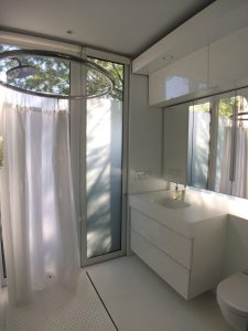 tiny travel chick shipping container home builders kbox bathroom