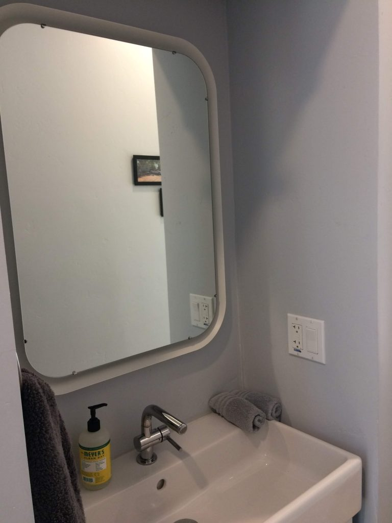 tiny travel chick shipping container home builders bathroom sink