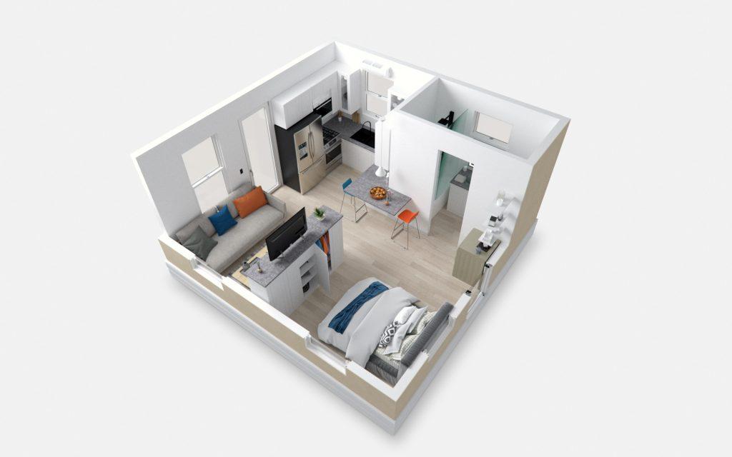 tiny travel chick prefab container house tiny house interior