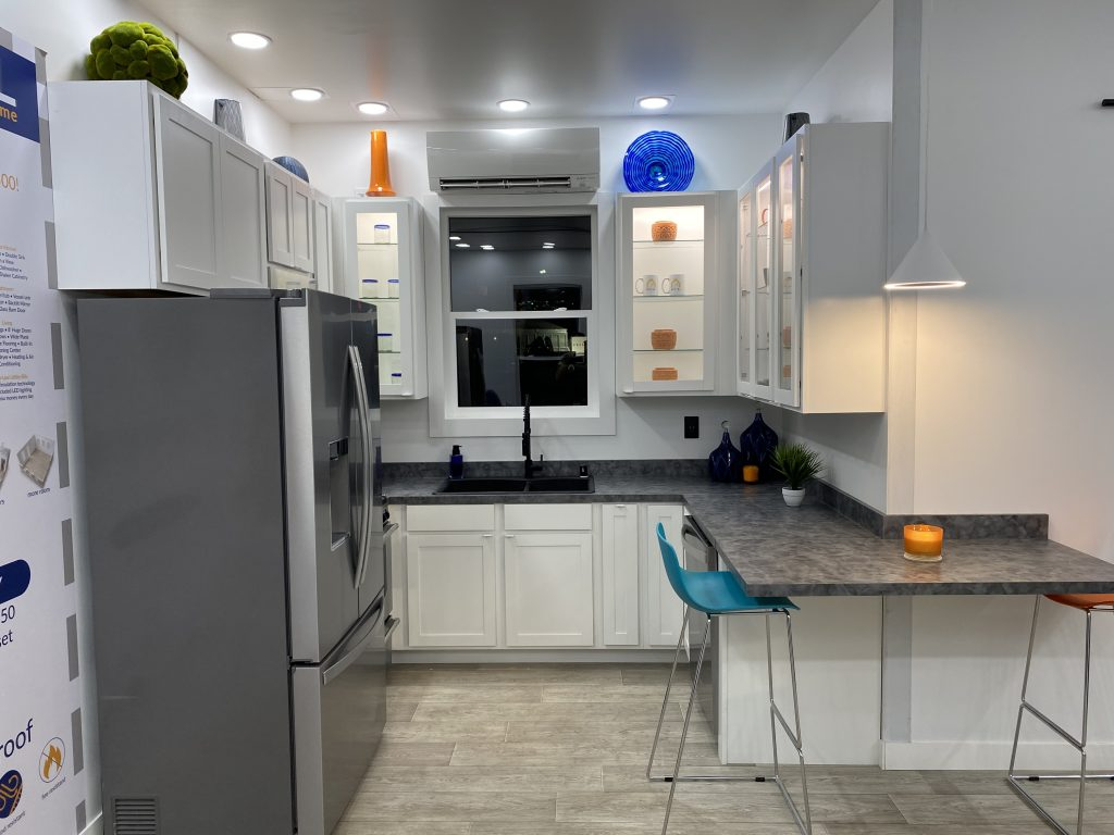 tiny travel chick prefab container house tiny house kitchen