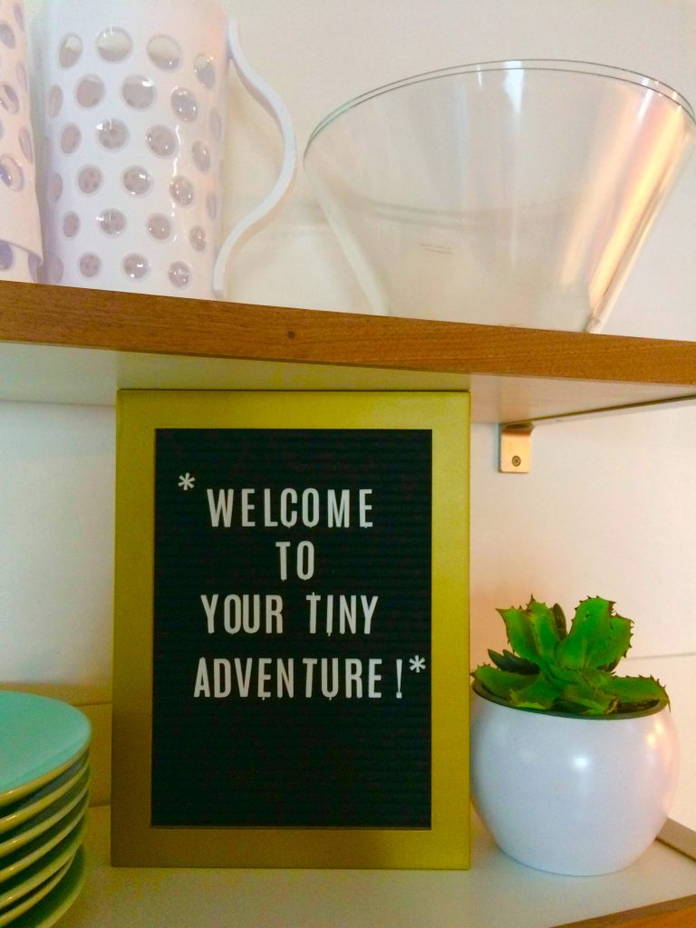 tiny travel chick tiny house on wheels builders airbnb welcome sign