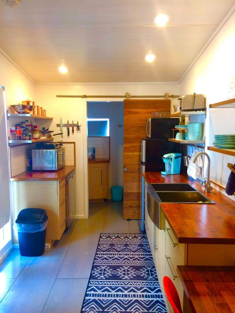 tiny travel chick tiny house salt lake city kitchen