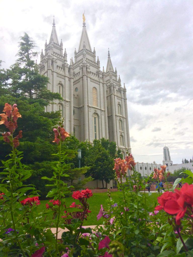 tiny travel chick tiny house salt lake city Mormon church Temple Square