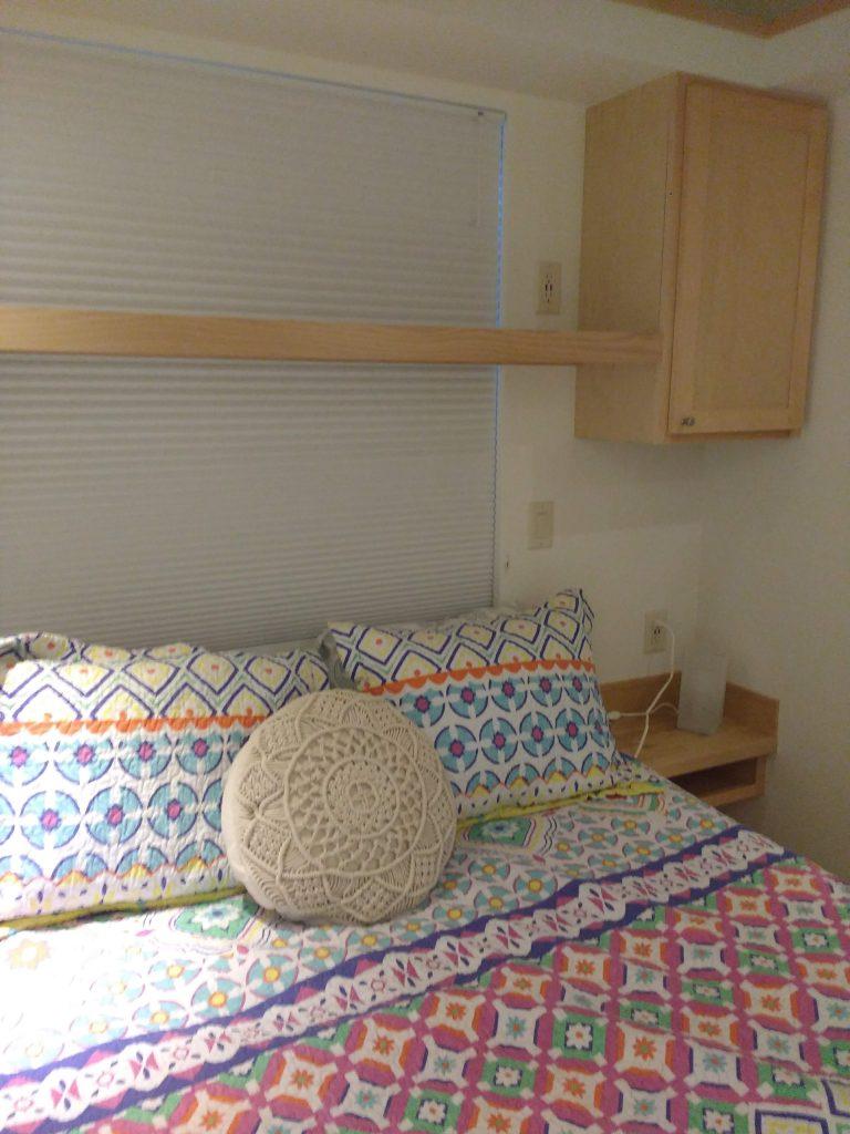 tiny travel chick tiny house on wheels builders bedroom