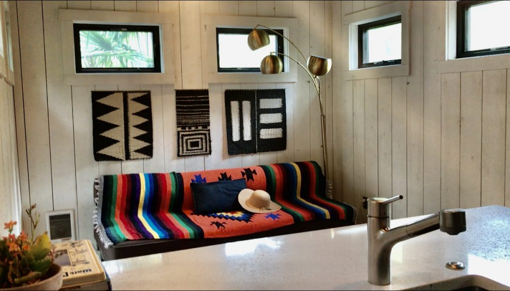 tiny travel chick tiny house on wheels builders living room