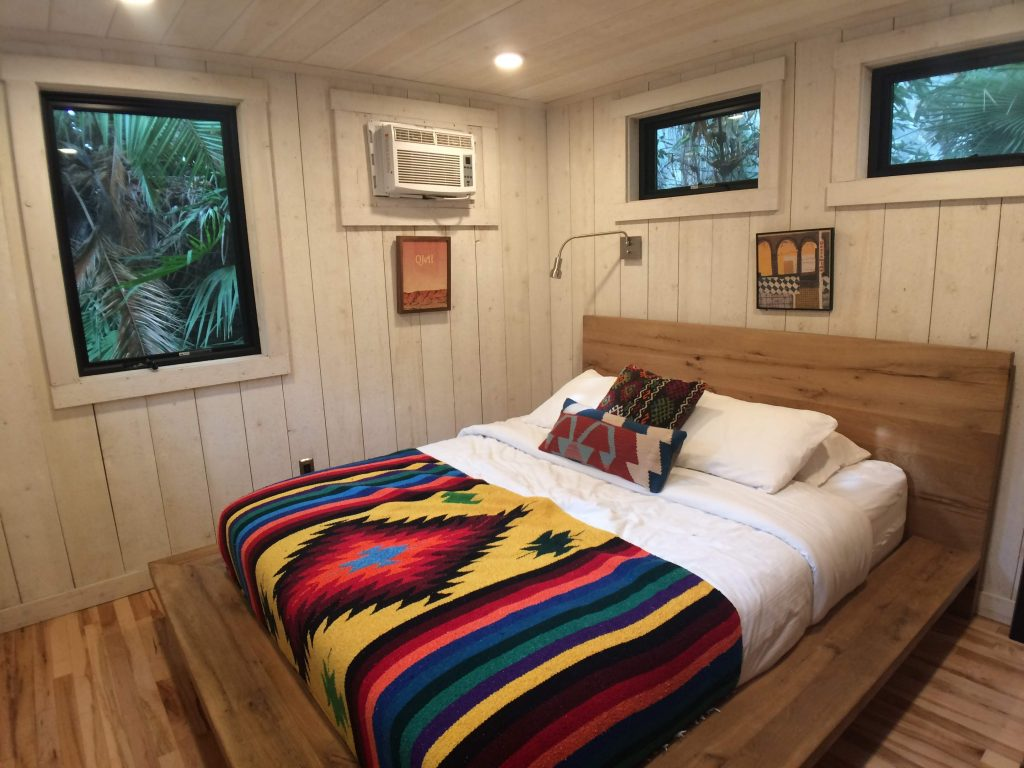 tiny travel chick tiny house on wheels builders downstairs bedroom