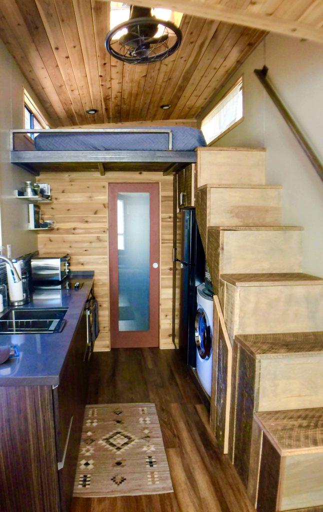tiny travel chick tiny house arizona kitchen