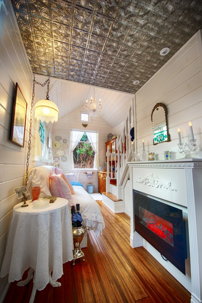 tiny travel chick tiny house getaway the cottage living room