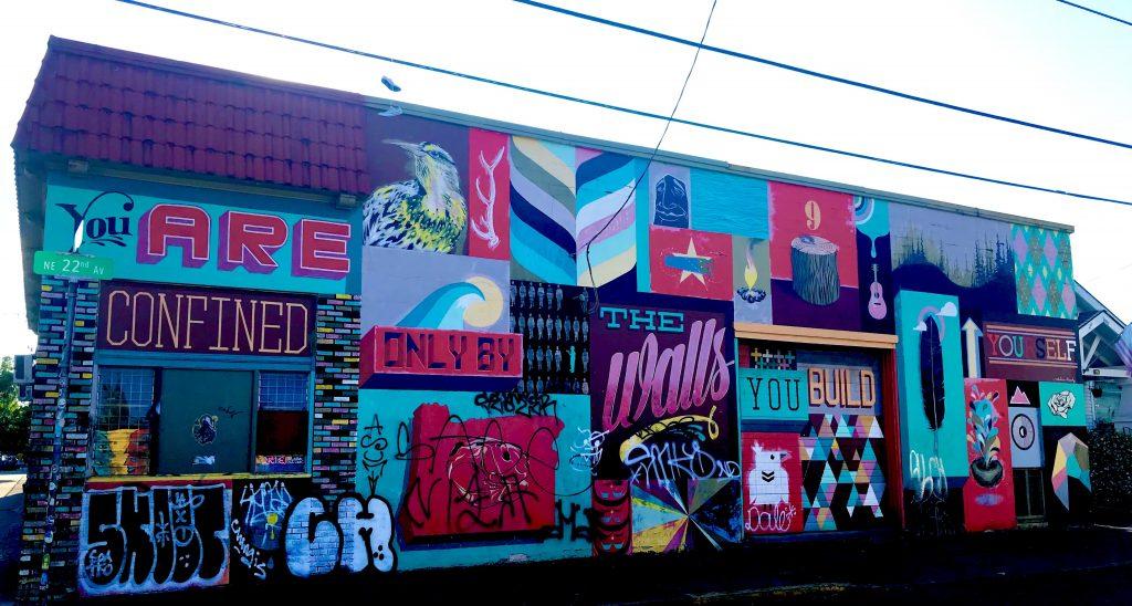 tiny travel chick alberta art district wall mural portland