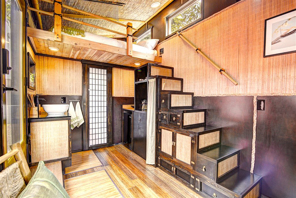 tiny travel chick small beautiful houses Japanese stairs