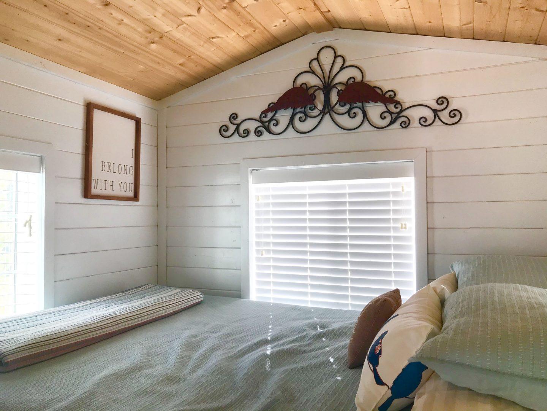 tiny travel chick tiny airbnb bedroom loft