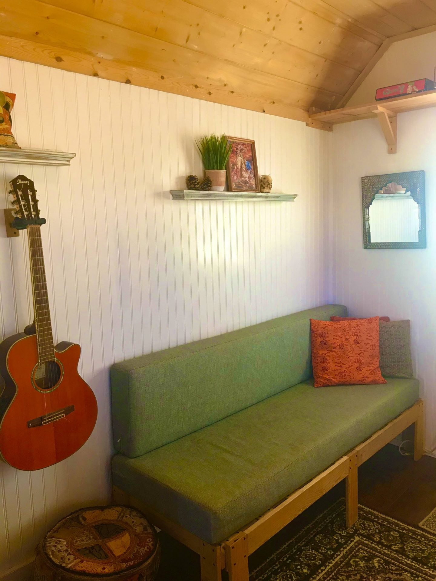 tiny travel chick tiny home airbnb living room
