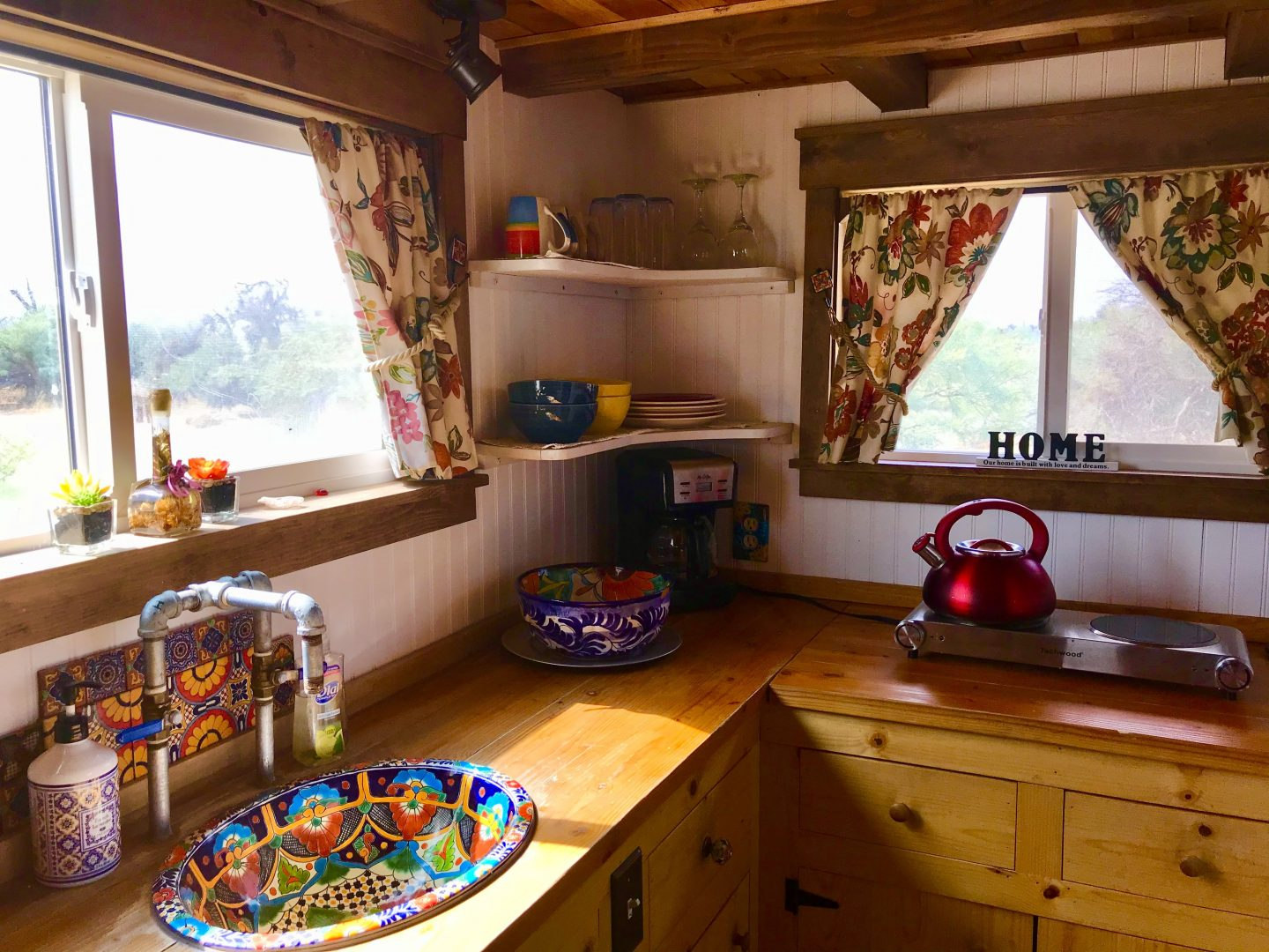 tiny travel chick tiny house for rent airbnb kitchen