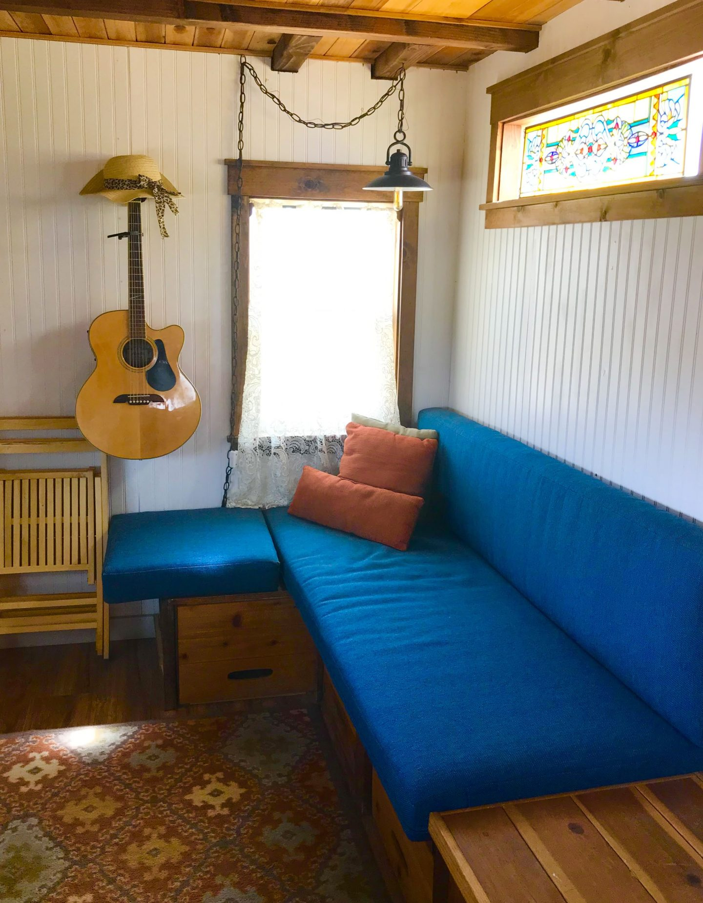 tiny travel chick tiny house for rent airbnb living room